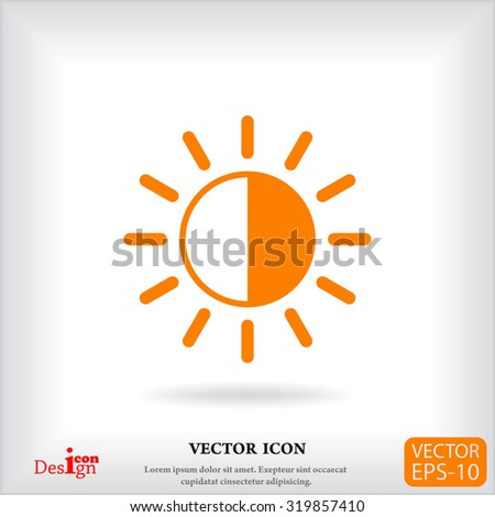 brightness vector icon - stock vector