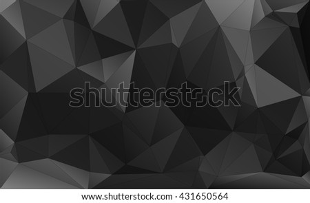Brilliant color designed low-poly or polygonal triangular mosaic background , Vector illustration.  - stock vector