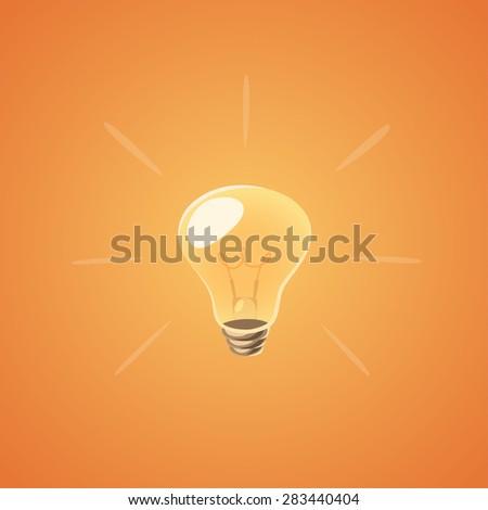 Brilliant idea bulb. Isolated object \ background. - stock vector