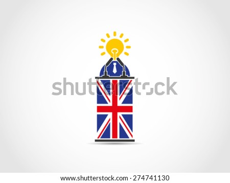 Brilliant UK Britain Solution Programs Idea Policy - stock vector
