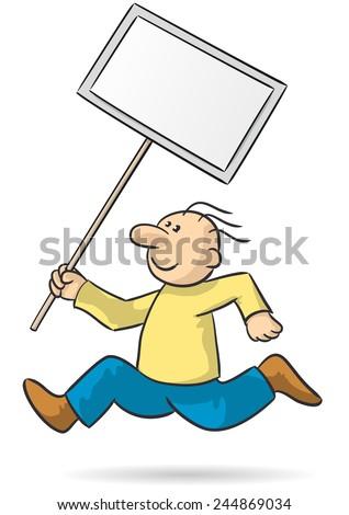 bring a sign - stock vector