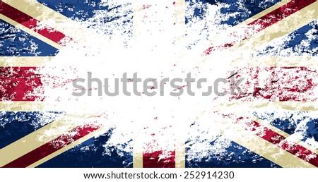 Britain flag Grunge background. Vector illustration Eps 8. - stock vector