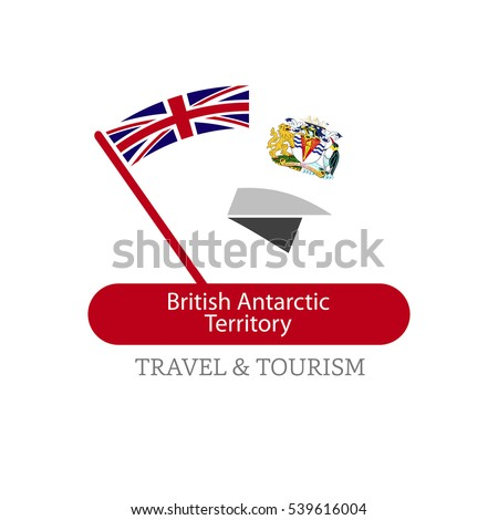 British antarctic Territory  The Travel Destination logo - Vector travel company logo design - Country Flag Travel and Tourism concept t shirt graphics - vector illustration