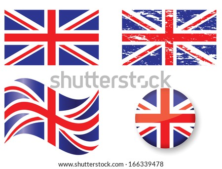 British Flag Set - stock vector