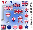british flag vector - stock vector