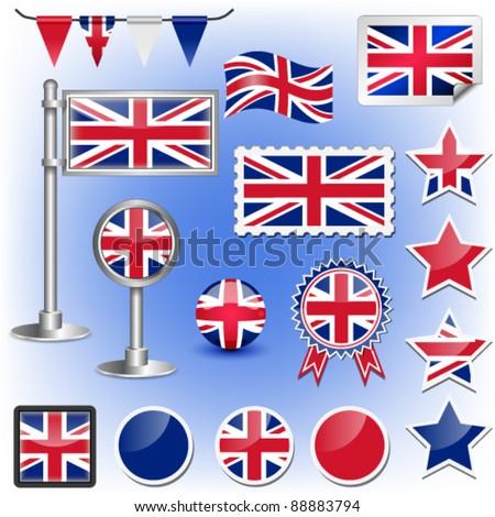 british flag vector - stock vector