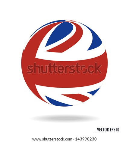 British Flag. Vector illustration. - stock vector