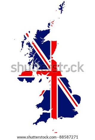 British map - stock vector