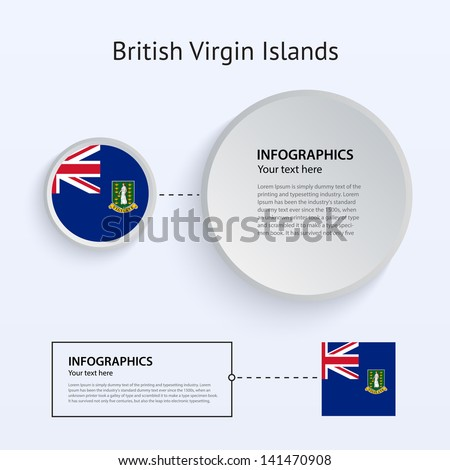 British Virgin Islands Country Set of Banners on gray background for Infographic and Presentation. Vector illustration. - stock vector