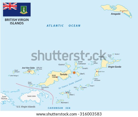 Virgin Islands Map Stock Images RoyaltyFree Images Vectors - Us and british virgin islands map
