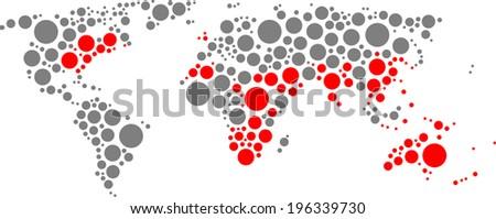 British world of circles - stock vector