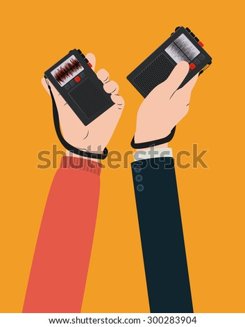 Broadcasting digital design, vector illustration eps 10 - stock vector