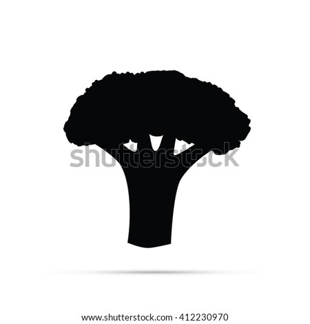 Broccoli Icon - stock vector