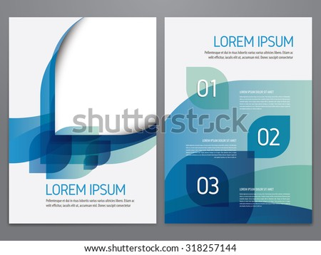 Brochure, annual report, flyer, magazine cover vector template. Modern corporate design. - stock vector