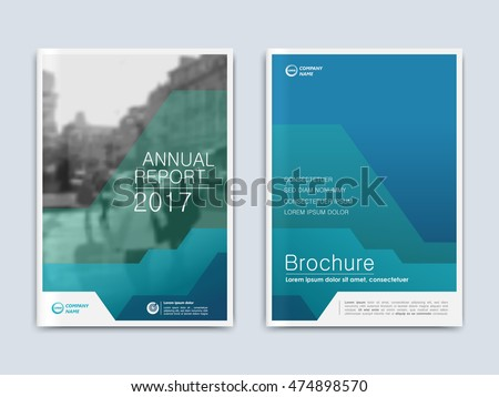 Brochure Annual Report Flyer Presentation Front Stock Vector - Presentation cover page template