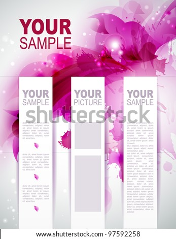 Brochure background with Abstract  magenta  elements