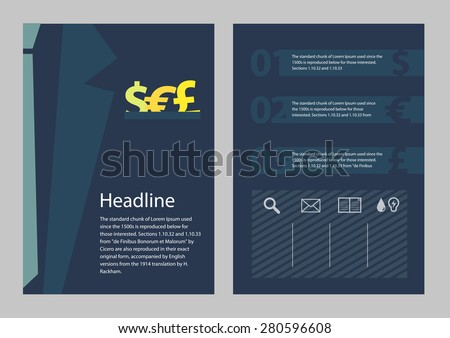 Brochure business concept style