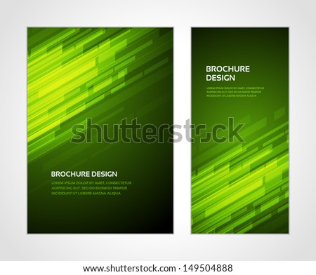 Brochure business design template or banner. Abstract vector background.  - stock vector