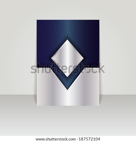 Brochure card banner metal-vector - stock vector
