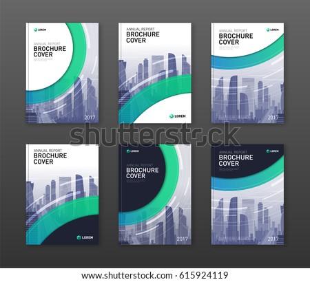 Brochure Cover Design Templates Set Construction Stock Vector