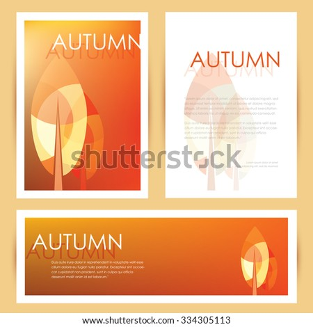 Brochure cover letterhead template banner mockup stock vector brochure cover letterhead template and banner mockup in autumn seasonal theme with abstract multicolored leaves spiritdancerdesigns Image collections
