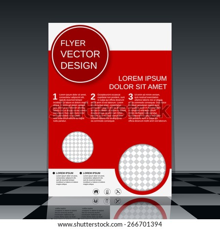 Brochure cover template. Flyer, poster, booklet abstract vector design. - stock vector