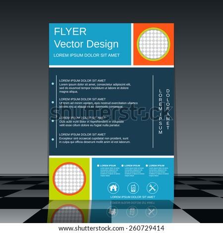 Brochure cover vector template. Flyer, booklet, poster design. - stock vector