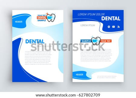 dental brochure templates - brochure dental stomatology design template cover stock