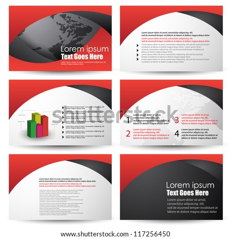 brochure design - stock vector