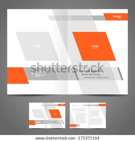 brochure design booklet template geometric abstract - stock vector
