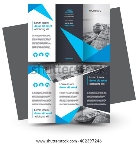 one fold brochure template - brochure design brochure template creative trifold stock