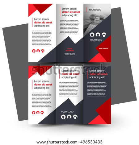 Trifold brochure stock images royalty free images for Creative brochure template
