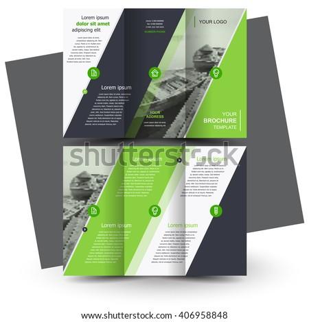 Brochure design, business brochure template, creative tri-fold, trend brochure - stock vector
