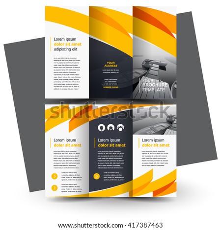 Brochure Design Business Brochure Template Creative Stock Vector - Welcome brochure template