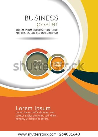 Brochure design content background. Design layout template - stock vector