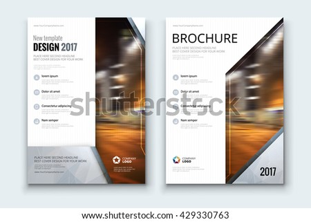 Brochure Design Corporate Business Template For Report Catalog Magazine Layout With