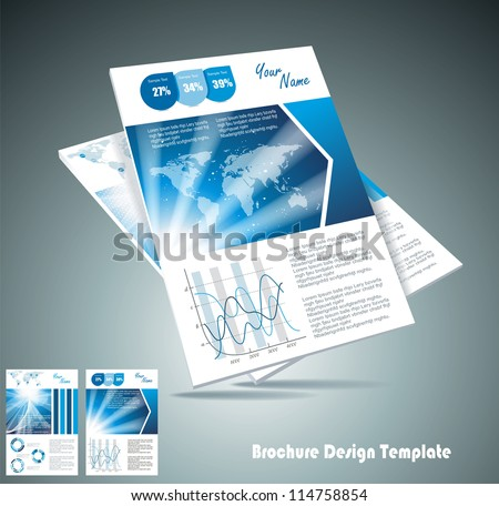 brochure design element, vector illustartion - stock vector