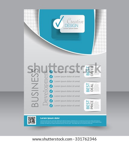 Flyer Template. Editable A4 Poster For Business, Education, Presentation,