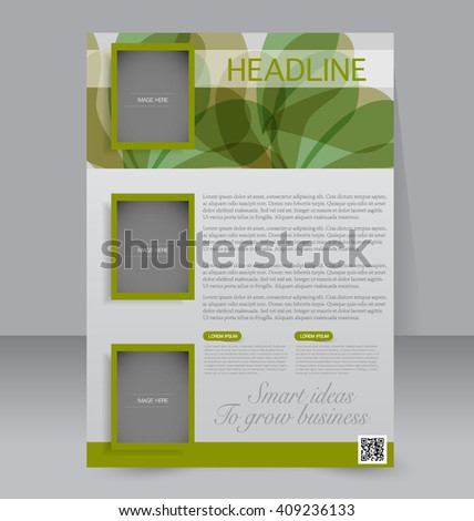 Brochure Design Flyer Template Editable A4 Stock Vector Hd Royalty