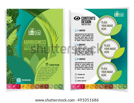 Brochure design industrial agriculture agribusiness design for Attractive brochure designs