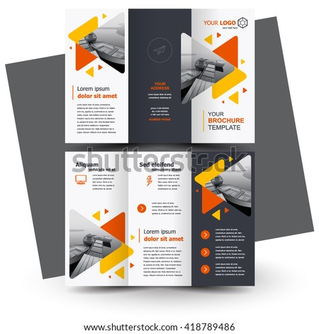 free creative brochure templates - brochure design geometric abstract business brochure stock