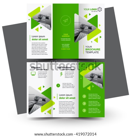 tri fold business brochure template - tri fold brochure design stock images royalty free images