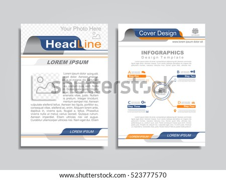 Brochure design layout with place for your data. Vector illustration.