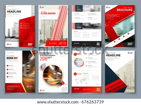 Brochure design red corporate business template stock vector red corporate business template for brochure report catalog magazine cheaphphosting Choice Image