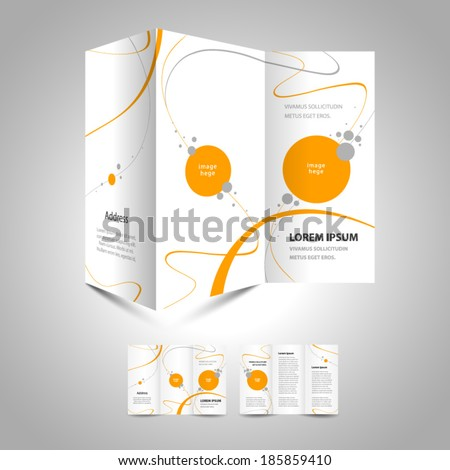 brochure design template - stock vector