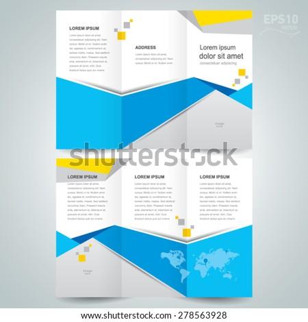 brochure design template - stock vector