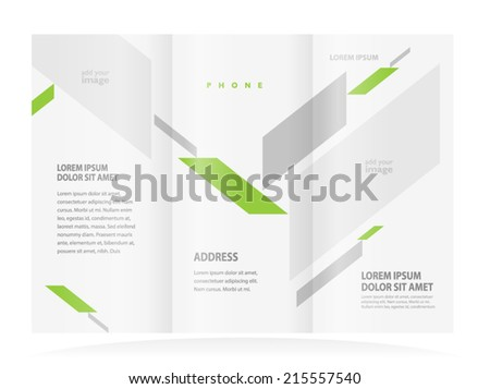 brochure design template abstract figure, frame for images - stock vector