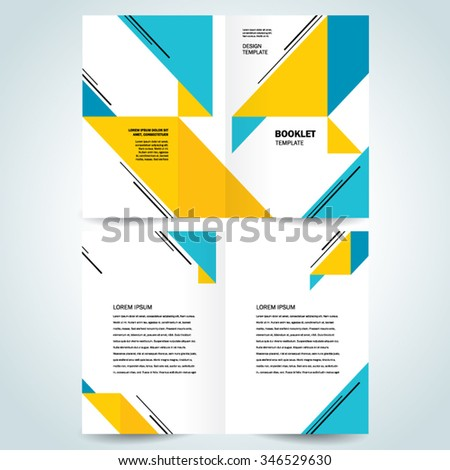 brochure design template booklet abstract triangles - stock vector