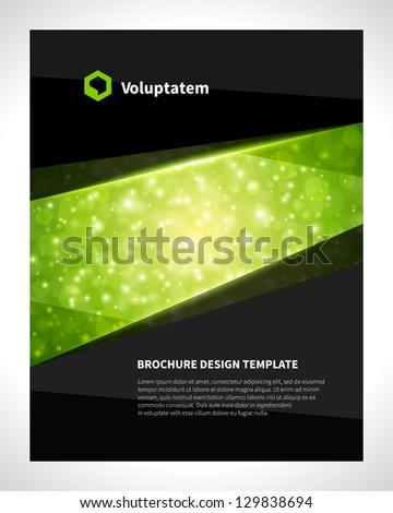 Brochure design template business, vector illustration - stock vector