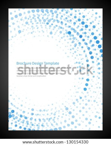 Brochure design template business, vector illustration - stock vector